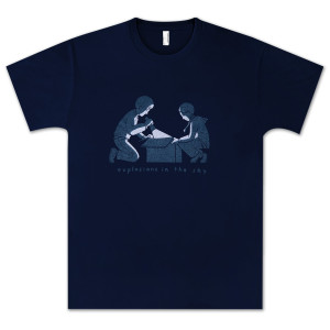 Explosions In The Sky Navy Box T-Shirt