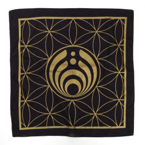 Black and Gold Geometric Logo Bandana