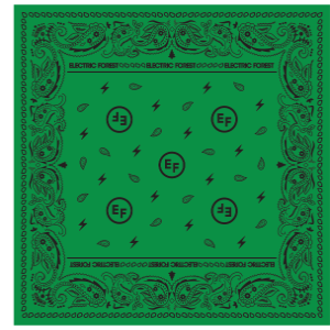 EF Green Paisley Bandana