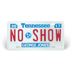 George Jones License Plate – No Show