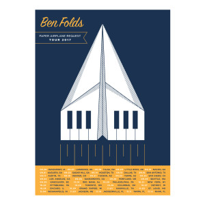 Paper Airplane Request Tour Poster