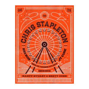 Chris Stapleton Show Poster – Darien Center 6/28/18