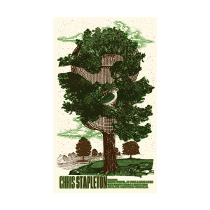 Chris Stapleton Show Poster – Mansfield, MA 6/30/18