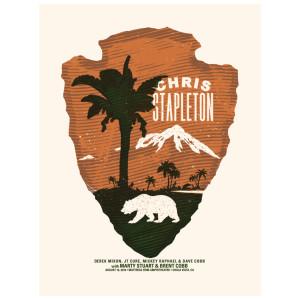 Chris Stapleton Show Poster – Chula Vista, CA 8/16/18