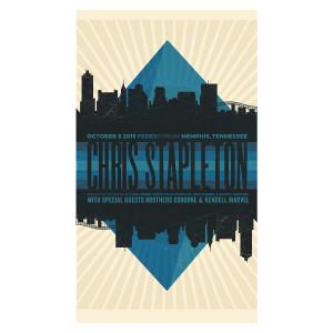 Chris Stapleton Show Poster – Memphis, TN 10/5/19