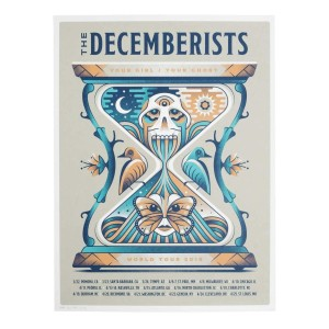 """The Decemberists 'Your Girl/Your Ghost' 2018 Tour Poster - 18"""" x 24"""""""