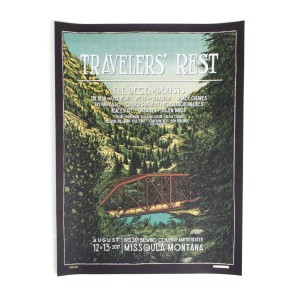 """The Decemberists 'Traveler's Rest' August 12, 13 2017 Poster - 18"""" x 24"""""""