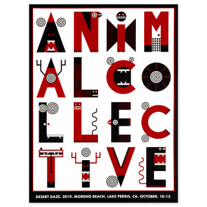 2019 Animal Collective poster by Yu Maeda