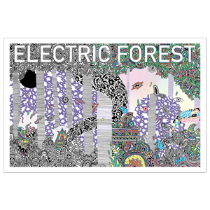 Electric Forest Screen Print Poster