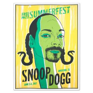 Free Press Summer Festival 2012 Snoop Dogg Poster