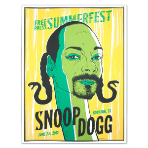 Free Press Summer Festival 2012 Snoop Dogg Poster