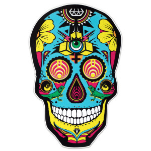 Black DOTD Skull Sticker