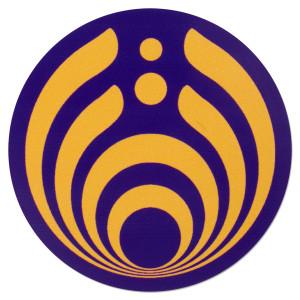 Purple and Gold Emblem Sticker