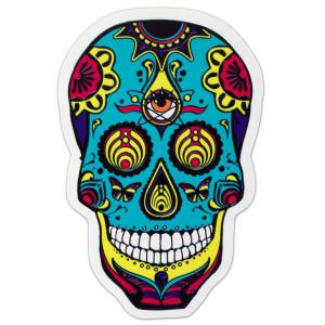 White DOTD Skull Sticker