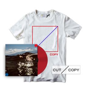Cut Copy Freeze, Melt T-shirt, Red Vinyl & Sticker