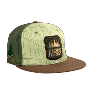 Official 2017 Grassroots California custom flat brim, snap back - FOREST PATCH