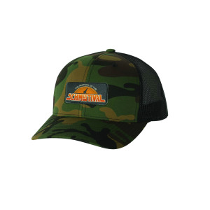Schmestival Logo Trucker Hat Green Camo/Black
