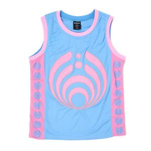 Bassdrop 808 Basketball Jersey - Pink/Blue