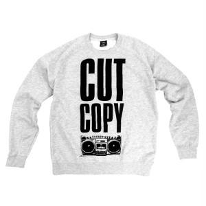Cut Copy Boom Box Crewneck Sweatshirt - Gray