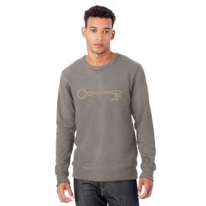 JF Key Unisex Charcoal Crewneck Sweatshirt