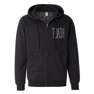 Embroidered Logo Zip Hoodie
