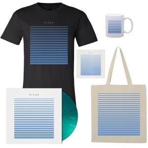 River T-Shirt - Black, Tote, Mug, Vinyl, and CD Bundle