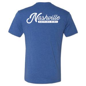 George Jones Pick Logo and Nashville Happens Here T-Shirt – Royal