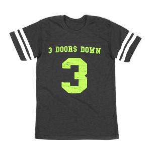 3 Doors Down Vintage Smoke Football Tee KRYP