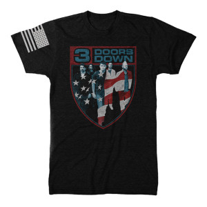 3 Doors Down Flag Crest T-Shirt