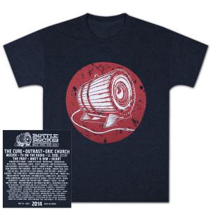Bottle Rock Napa Valley Men's Lineup Tee - Navy T-Shirt
