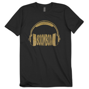 BoomBox Black Headphone Tee