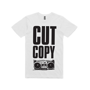 Cut Copy Boom Box T-Shirt - White