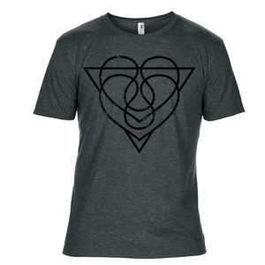 Unisex Heather Grey Heart Vessel T-Shirt