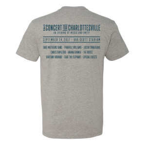 Concert for Charlottesville T - Heather Grey