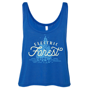 Electric Forest Script Ladies Crop Tank