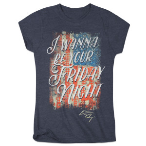 I Wanna Be Your Friday Night Ladies T-Shirt - Charcoal