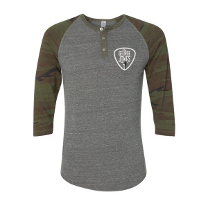 George Jones Camo Henley