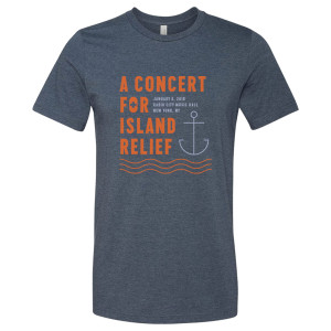 Concert for Island Relief Anchor T-Shirt