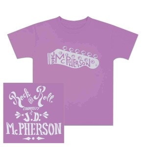 JD McPherson Rock and Roll Lavender Toddler Tee