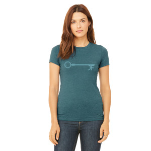 JF Key Heather Teal Women's Tee