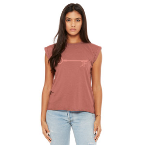 JF Key Mauve Women's Muscle Tee