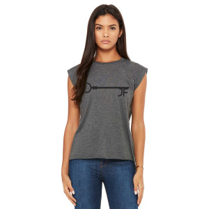 JF Key Dark Grey Women's Muscle Tee