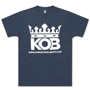 Kings of Belmont Logo Unisex T-Shirt - Heather Blue