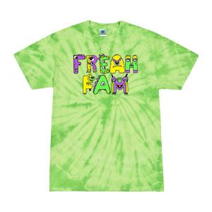 Freak Fam Lime Tie Dye Tee
