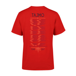 TajMo Bright Red Flag 2017 Tour Tee