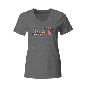 Ladies TajMo Charcoal Flag Tee