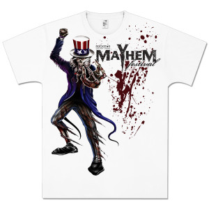 Mayhem 2012 Bloodfest White T-Shirt