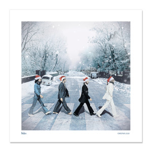 Snowy Abbey Road Lithograph