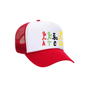 ATCQ Stick Figures Red and White Trucker Hat