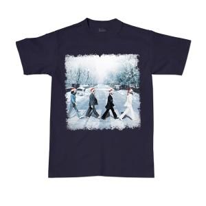 Snowy Abbey Road Navy Tee